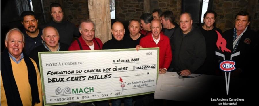 MACH remet plus de 200 000$ à la Fondation du cancer des Cèdres