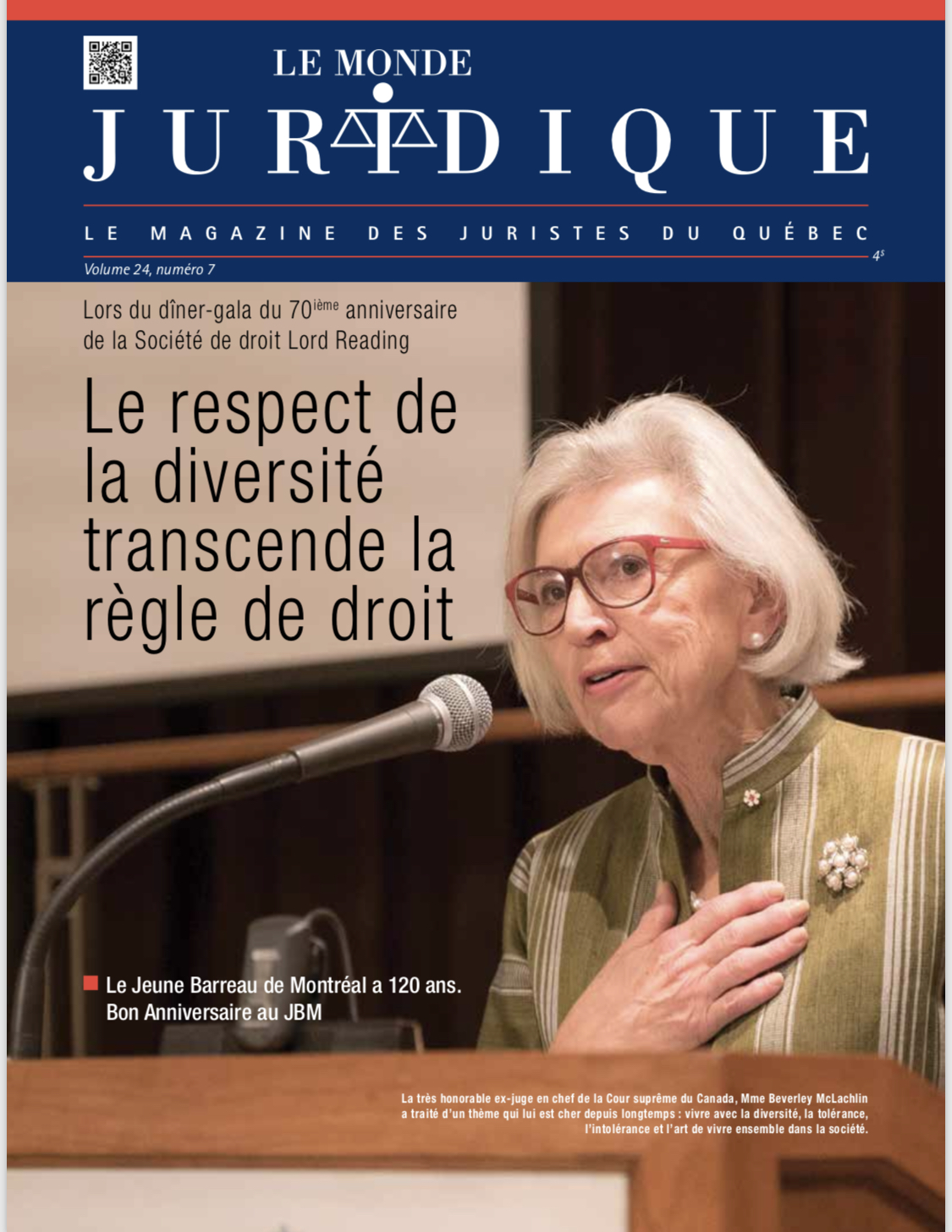 The American College of Trial Lawyers Creates the Beverley McLachlin Access to Justice Award to Honor The Right Hon. Beverley McLachlin, P.C.